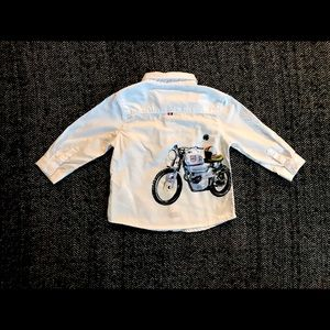 Mayoral long sleeved white motorcycle 6m